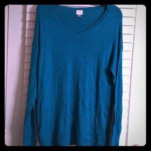 Deep turquoise sweater